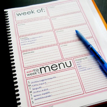 Menu Planner Pages