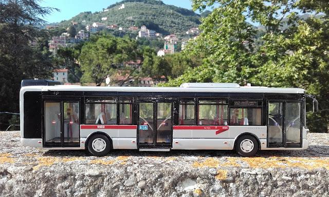 iveco urbanway atac roma 9900 in scala 1 43 modellino artigianale i miei autobus. Black Bedroom Furniture Sets. Home Design Ideas