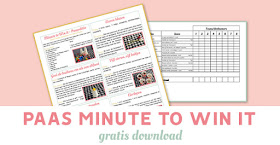 Minute to win it - Pasen