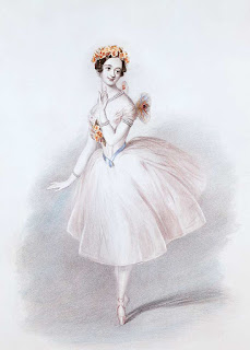 Taglioni's daughter, Marie, pictured in a performance of La Sylphide