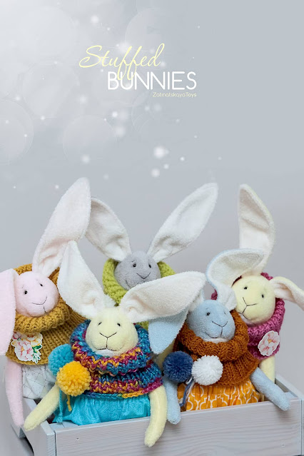 stuffed bunnies DIY Easter crafts and ideas