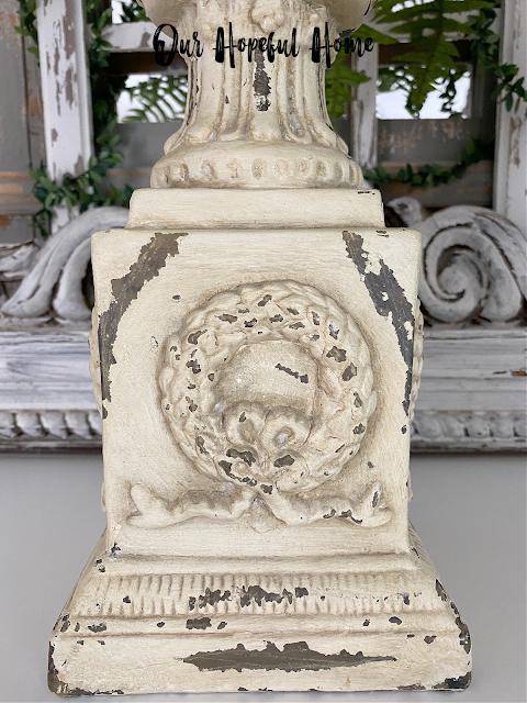 ornate French wreath ribbon urn planter