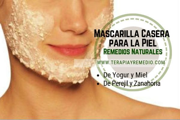 Tratamiento de belleza natural, mascarillas caseras para la piel de yogur con miel y perejil con zanahoria