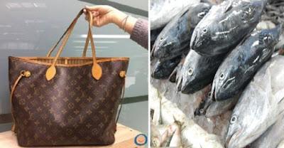 Beg tangan RM4,423 diguna untuk bawa ikan di pasar