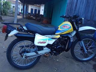 Dijual Trail Suzuki ts125 tahun 2005 plat BE