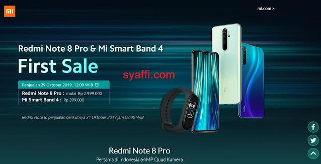 Jadwal Penjualan online Redmi Note 8 Pro