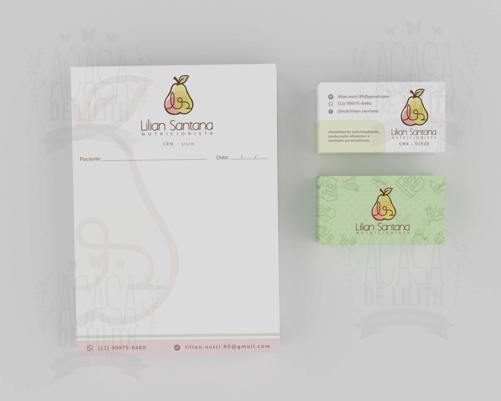 Logo, Receituário e Cartão de Visita para Nutricionista - Design Personalizado