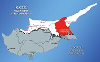 Kıbrıs haritasında Gazimağusa ilçesinin gösterimi