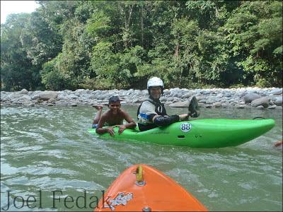 Giorgio with a swimming hole ride along, colombia Riio mocoa, Chris Baer