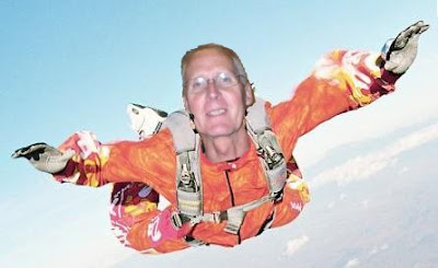 mockup of Kevin Schrader skydiving