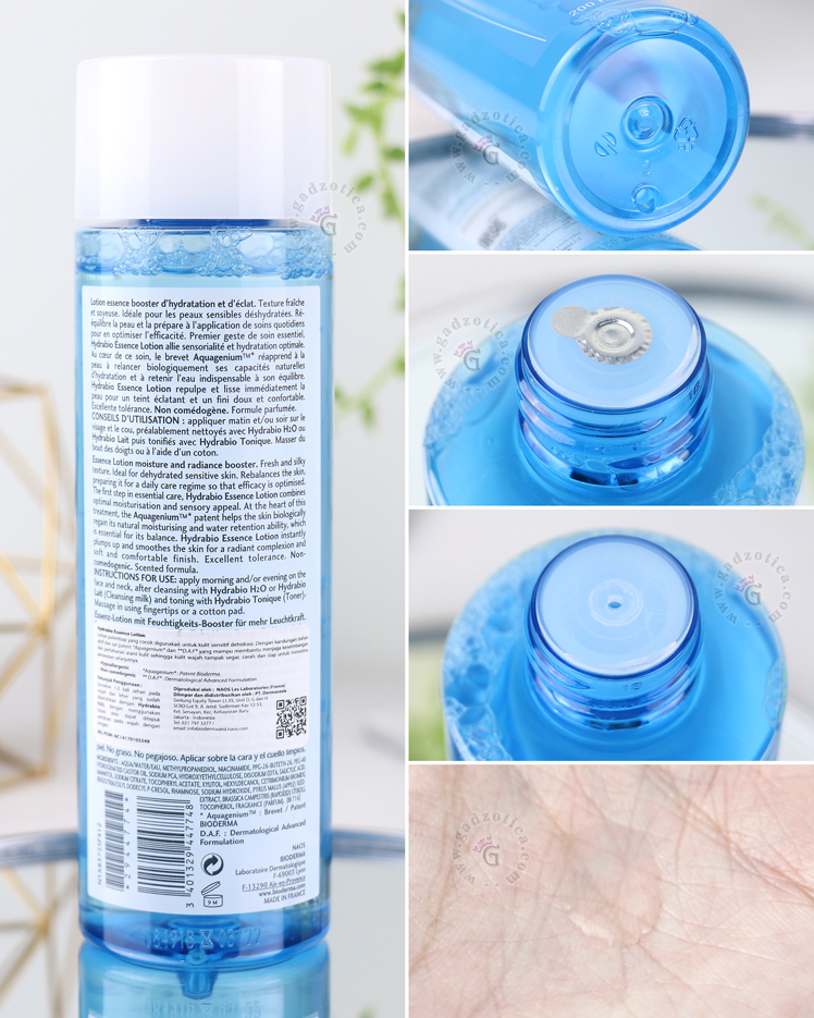 Bioderma Hydrabio Essence Lotion Ingredients