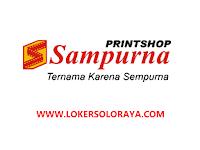 Loker Solo Desain Grafis dan Customer Service di PT Panca Sampurna Indah (Sampurna Foto)