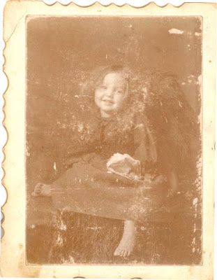 Portrait of my Grandmother as a child, by my Great Grandfather, who was a photographer