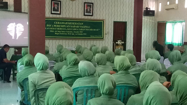 Pertemuan Persit Candra Kirana Cabang XXIV Batang dan Ceramah Kesehatan PSV(Perempuan Sadar Vagina)