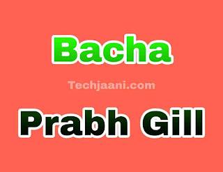Bacha Song Lyrics In Hindi