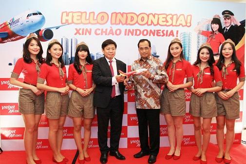 Vietjet mở đường bay Thành phố Hồ Chí Minh (TP.HCM - Việt Nam) đi Jakarta (Indonesia)