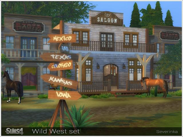 Дикий Запад — наборы мебели и декор для Sims 4 со ссылками для скачивания