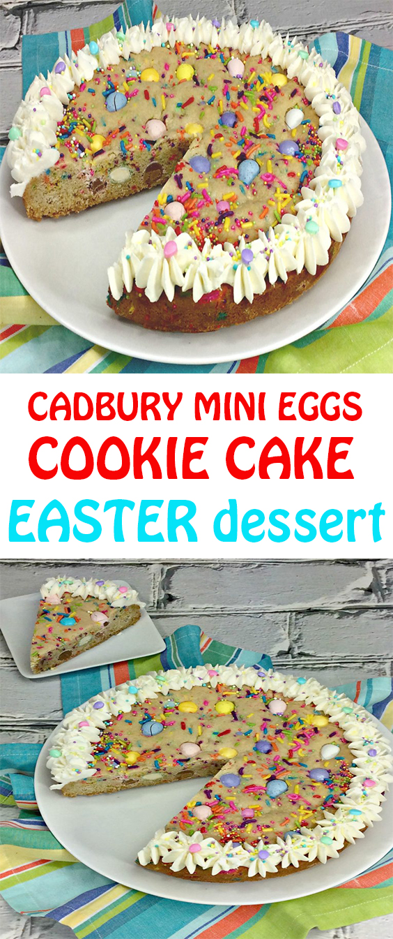 CADBURY MINI EGGS EASTER COOKIE CAKE