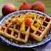 Fresh Peach and Pecan Waffles