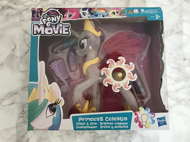 Glitter and glow my little pony toy in box