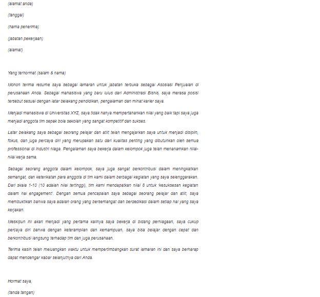 Contoh dan Cara Buat Cover Letter Agar Diterima Lamaran