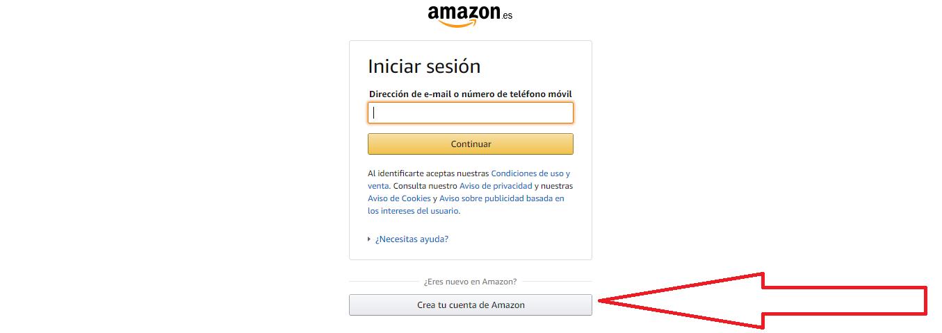 INICIAR SESION EN AMAZON