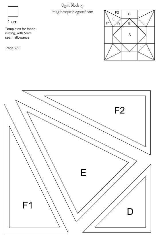 Imaginesque: Quilt Block 19: Templates for EPP, Hand