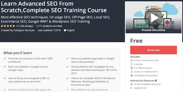 [100% Free] Learn Advanced SEO From Scratch,Complete SEO Training Course