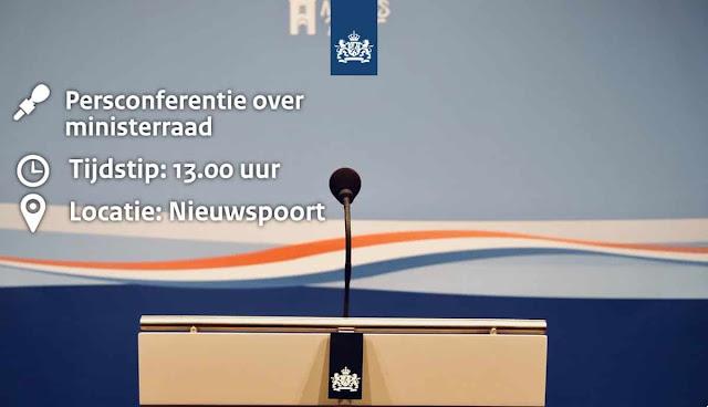 مؤتمر صحفي مباشر للحكومة الهولندية لإعلان فرض حظر التجوال وتوسيع اجراءات كورونا