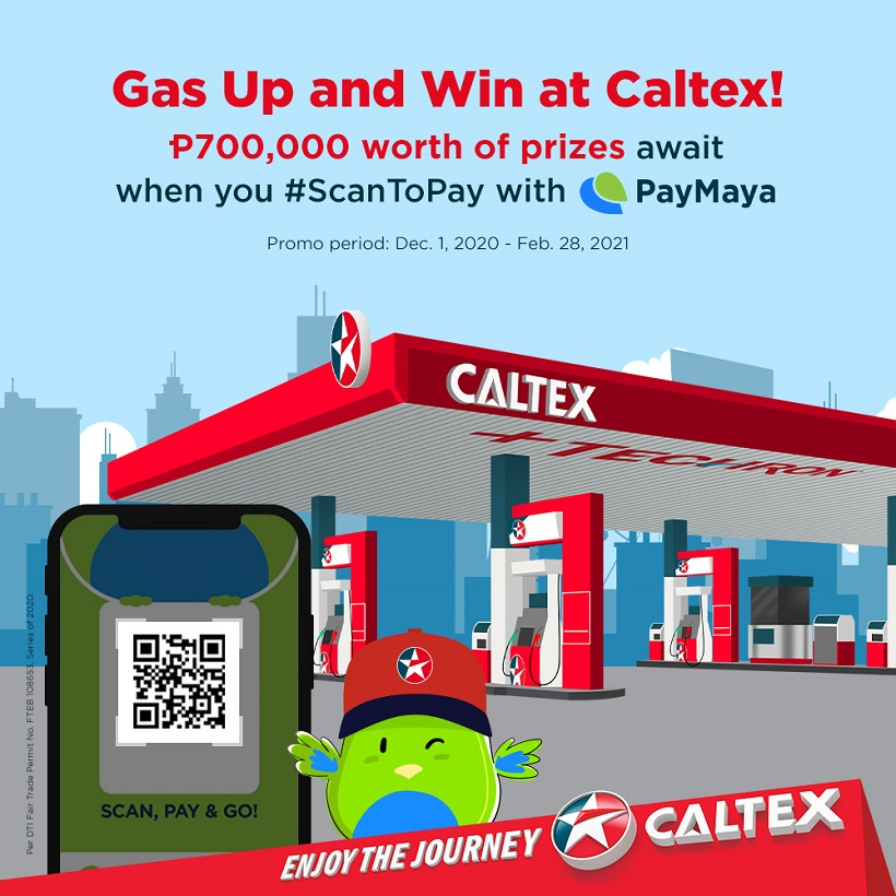 Fuel up at CaltexviaPayMayaQR and win a share of ₱700,000 in prizes