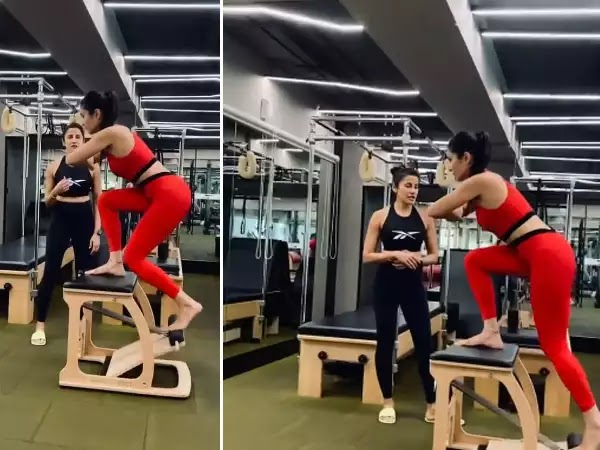 Katrina Kaif Works On Her Muscles During a Pilates Session