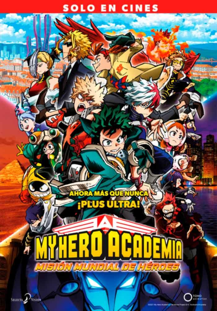 My Hero Academia: Misión Mundial de Héroes (My Hero Academia: World Heroes' Mission) anime film - Selecta Visión - poster
