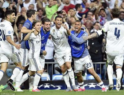 R.Madrid 4-2 Bayern Munich: Ronaldo treble sends Real into semis
