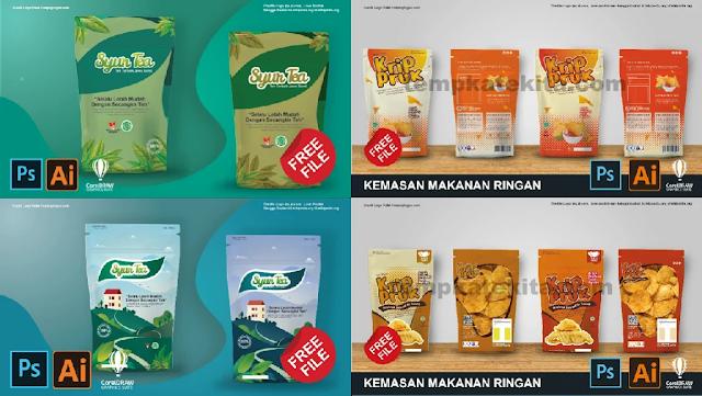 Download Disini : Kumpulan Contoh Desain Kemasan Produk Makanan Dan Minuman Gratis