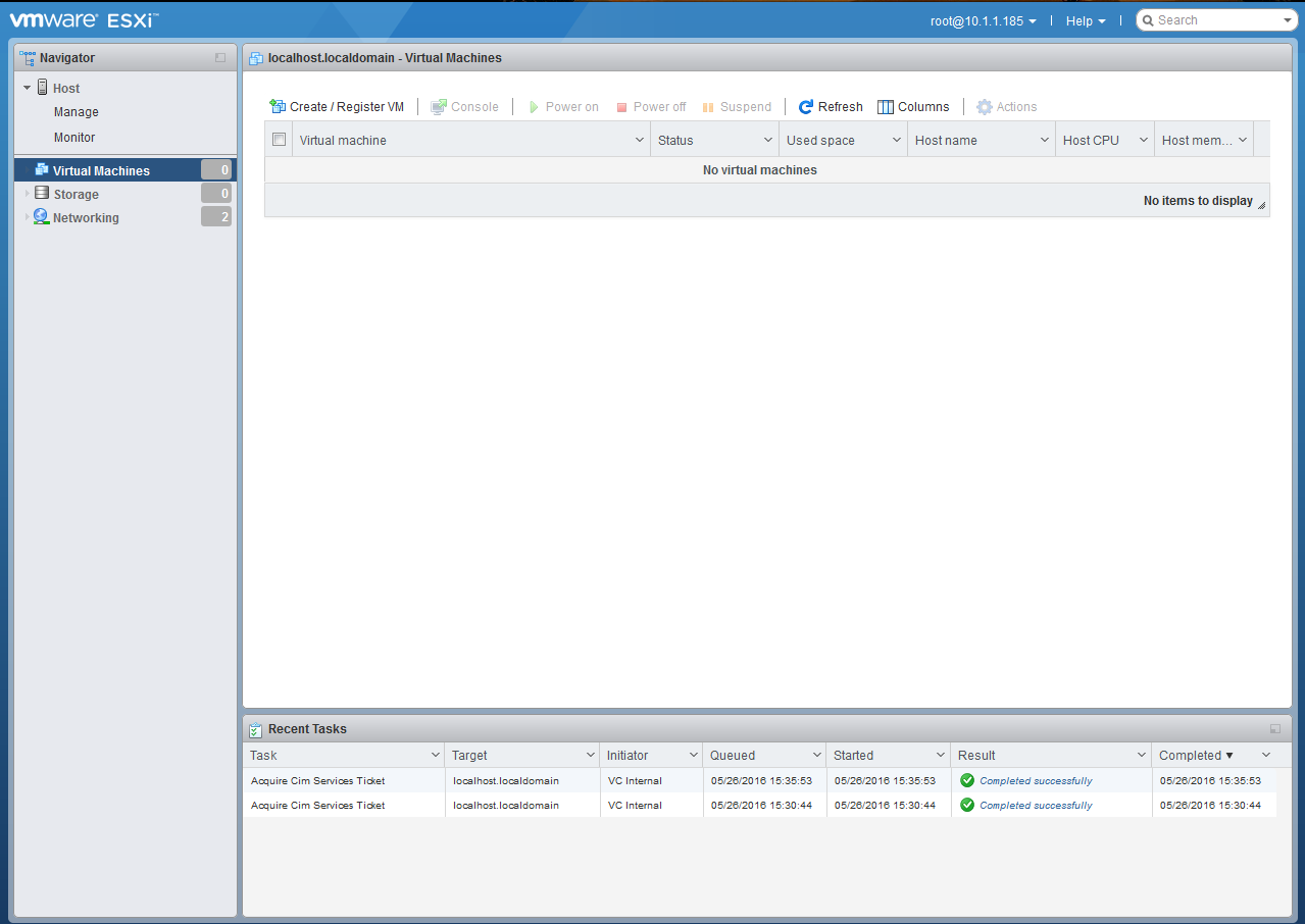 Ipe Browser Just One More Esxi Guy The Host Client In Vsphere 6