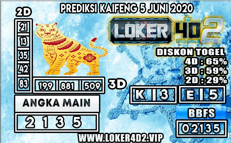 PREDIKSI TOGEL KAIFENG LOKER4D2 5 JUNI 2020