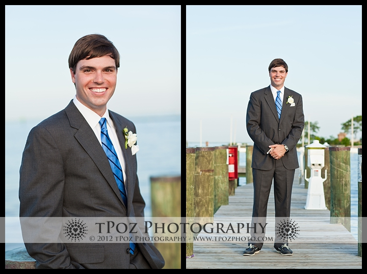 Groom at Annapolis Maritime Museum Wedding