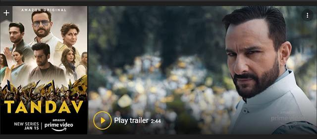 Play Tandav (2021) Hindi Web Series Trailer online for free