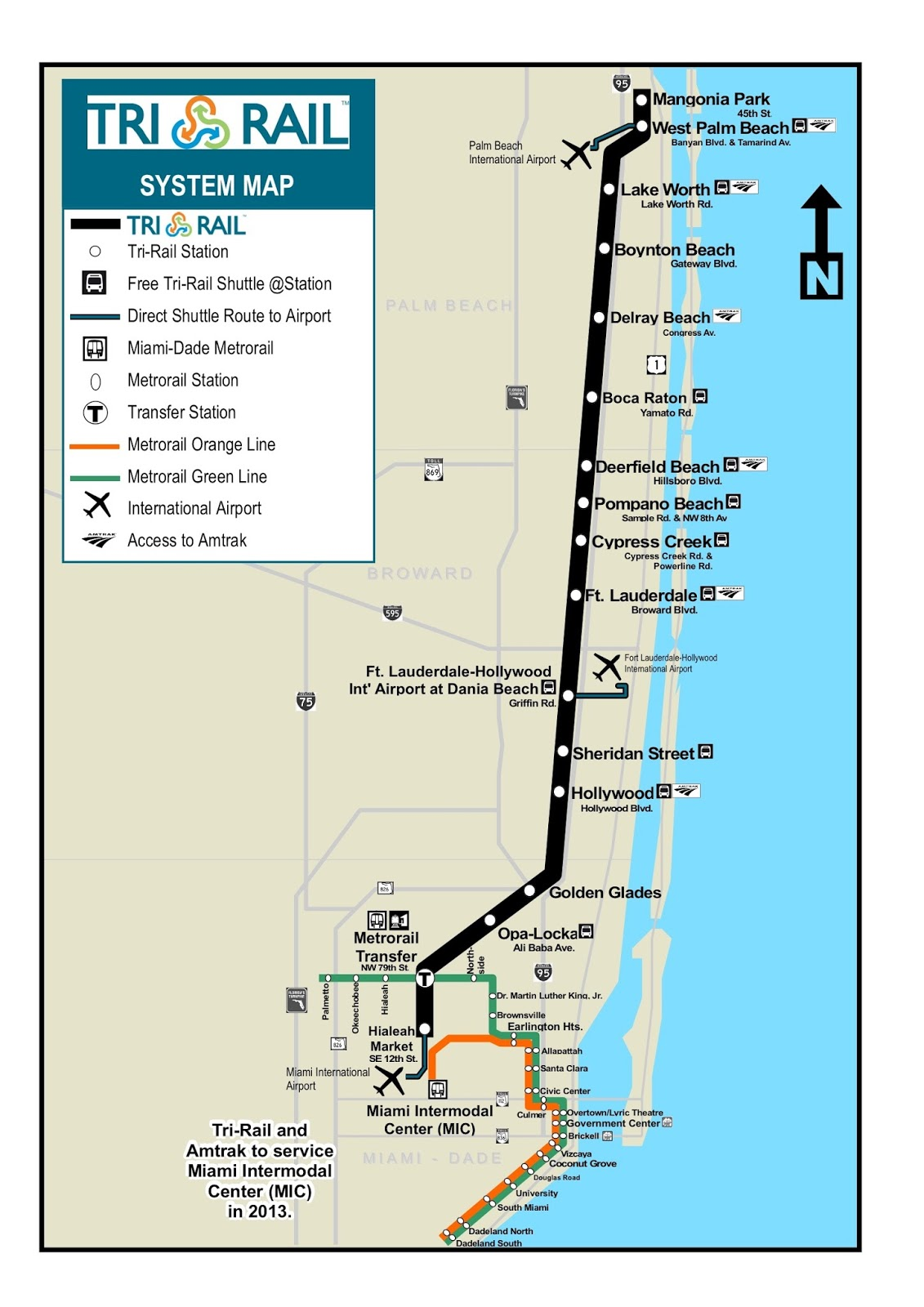 tri rail route map