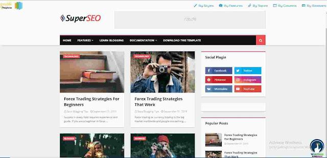 Super Seo Premium Blogger Template