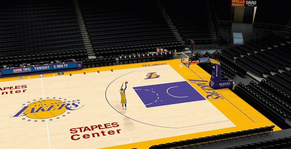 Nba 2k14 L A Lakers Court Hd Texture Mod Nba2k Org