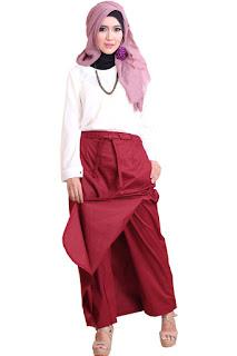 Gambar Rok Celana Rania Marun