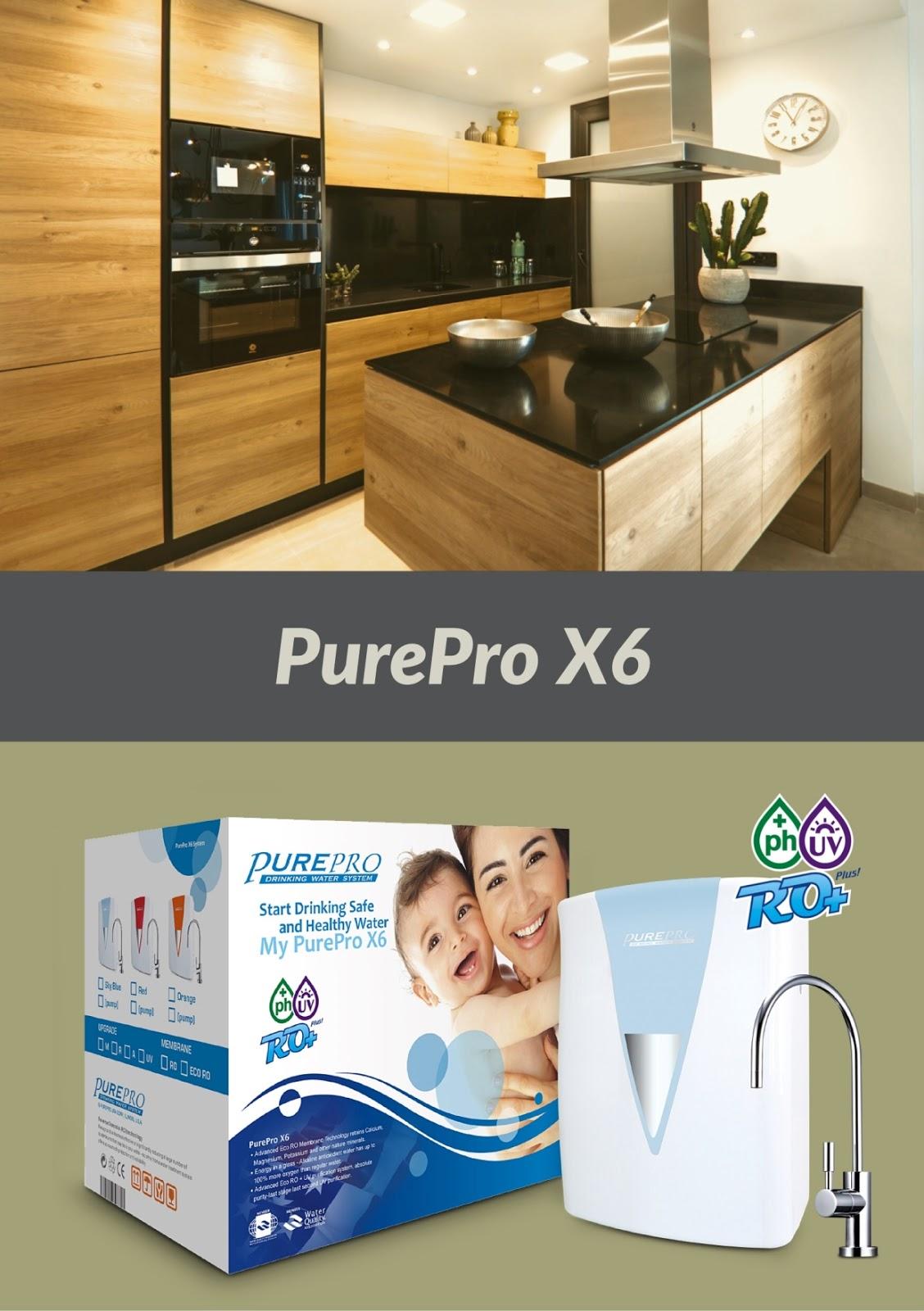 美國PurePro® X6 紫外線鹼性RO活水機 - 配備具礦物保護技術的新一代逆滲透膜