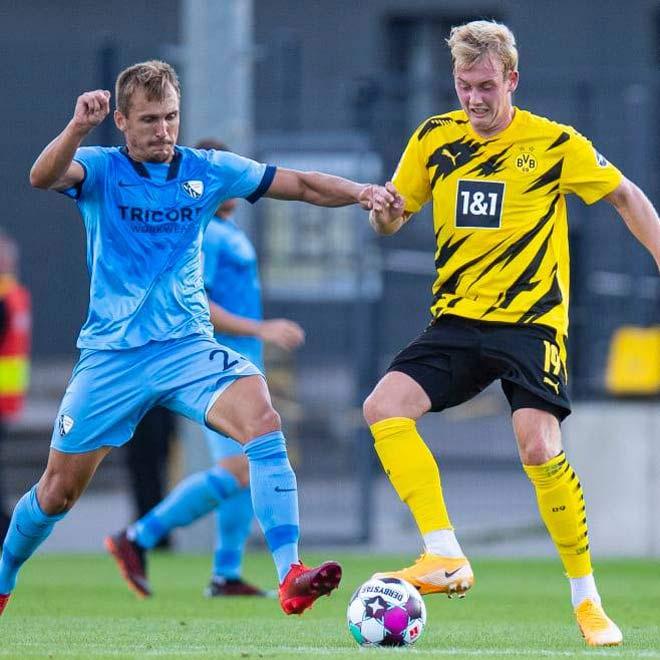 """Sancho - Haaland xuất trận, Dortmund vẫn bẽ mặt vì 2 """"trái đắng"""" 2"""