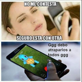 adiccion  a pokemon go meme