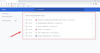 riwayat browsing google chrome