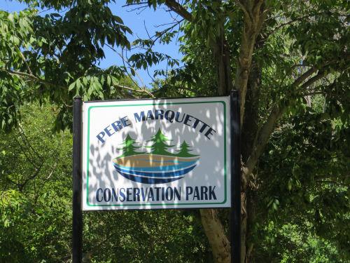 Pere Marquette Conservation Park sign