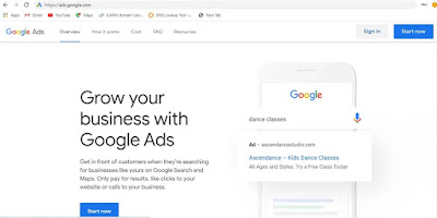 login to google Ads