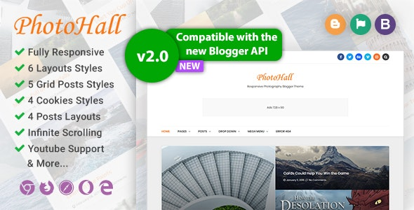 PhotoHall Photography Responsive Blogger Template