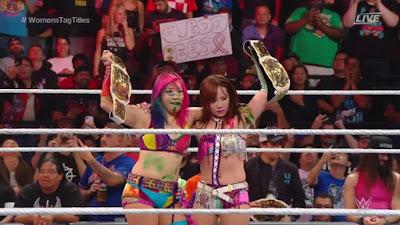 Asuka Kari Tag SmackDown Raw Womens WWE Fox USA